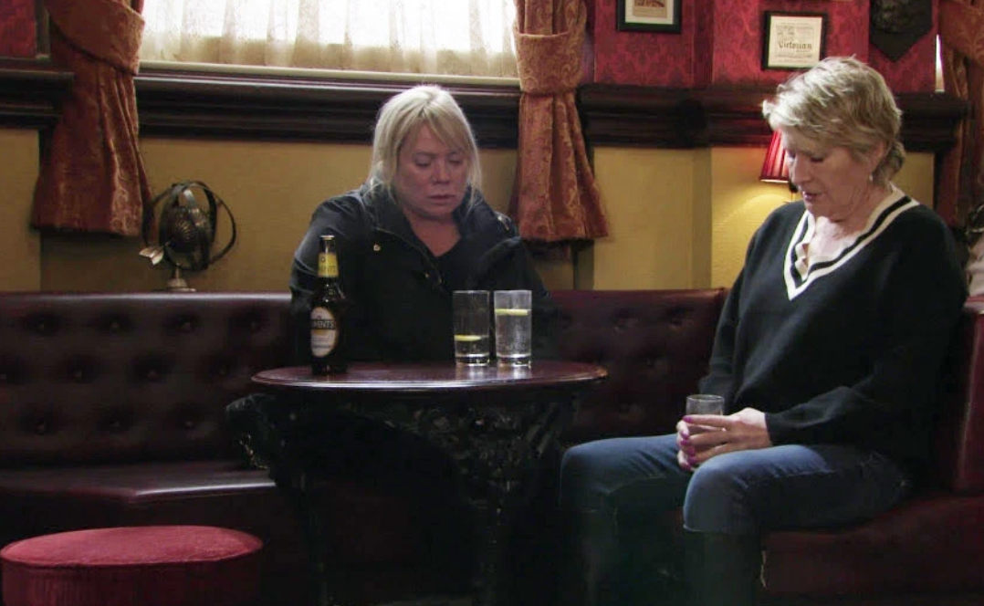 EastEnders viewers spot massive blunder as Sharon's glass refills itself