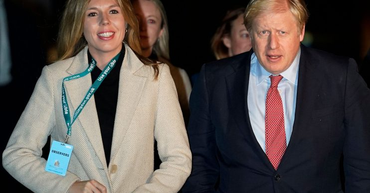 Boris Johnson Carrie Symonds coronavirus