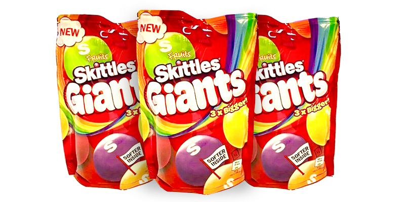 Brits can't wait to try new 'Pinball-sized' Skittles Giants as they launch in the UK for just £1