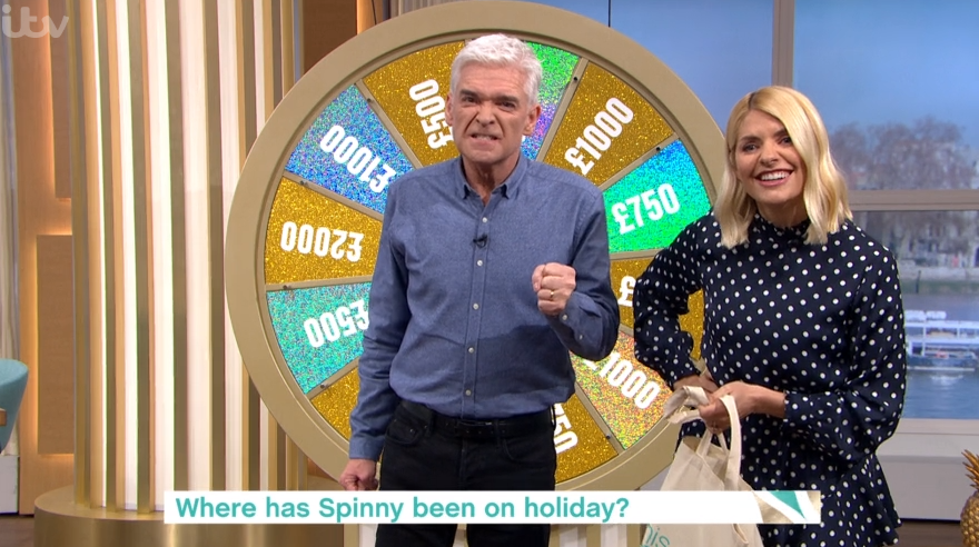 Phillip Schofield loses it with This Morning viewer in Spin To Win segment
