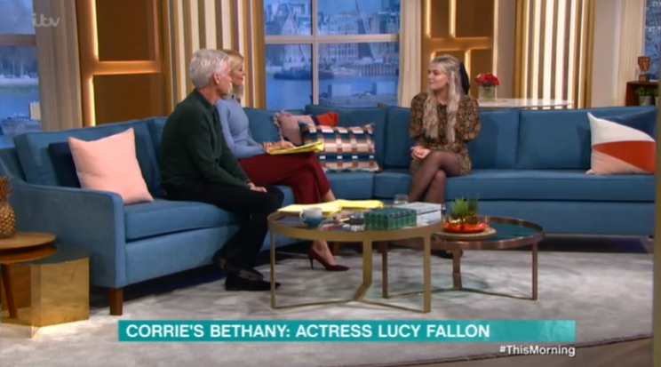 Coronation Street Lucy Fallon on This Morning Credit: ITV