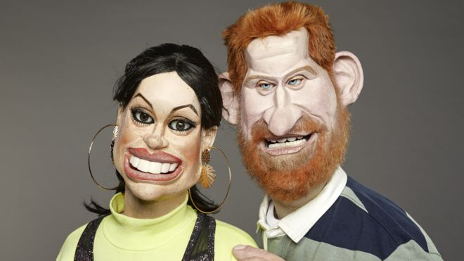 Meghan and Harry Spitting Image