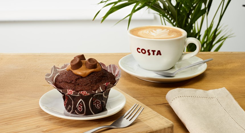 Costa's new spring menu includes a Rolo muffin and salted caramel brownie