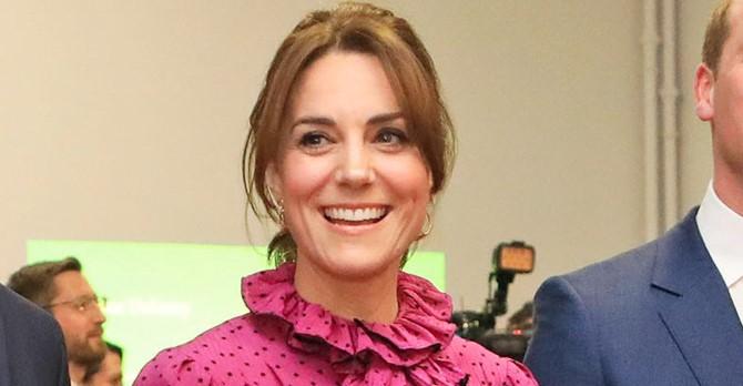 Duchess of Cambridge 'channels Princess Diana' with stunning magenta dress