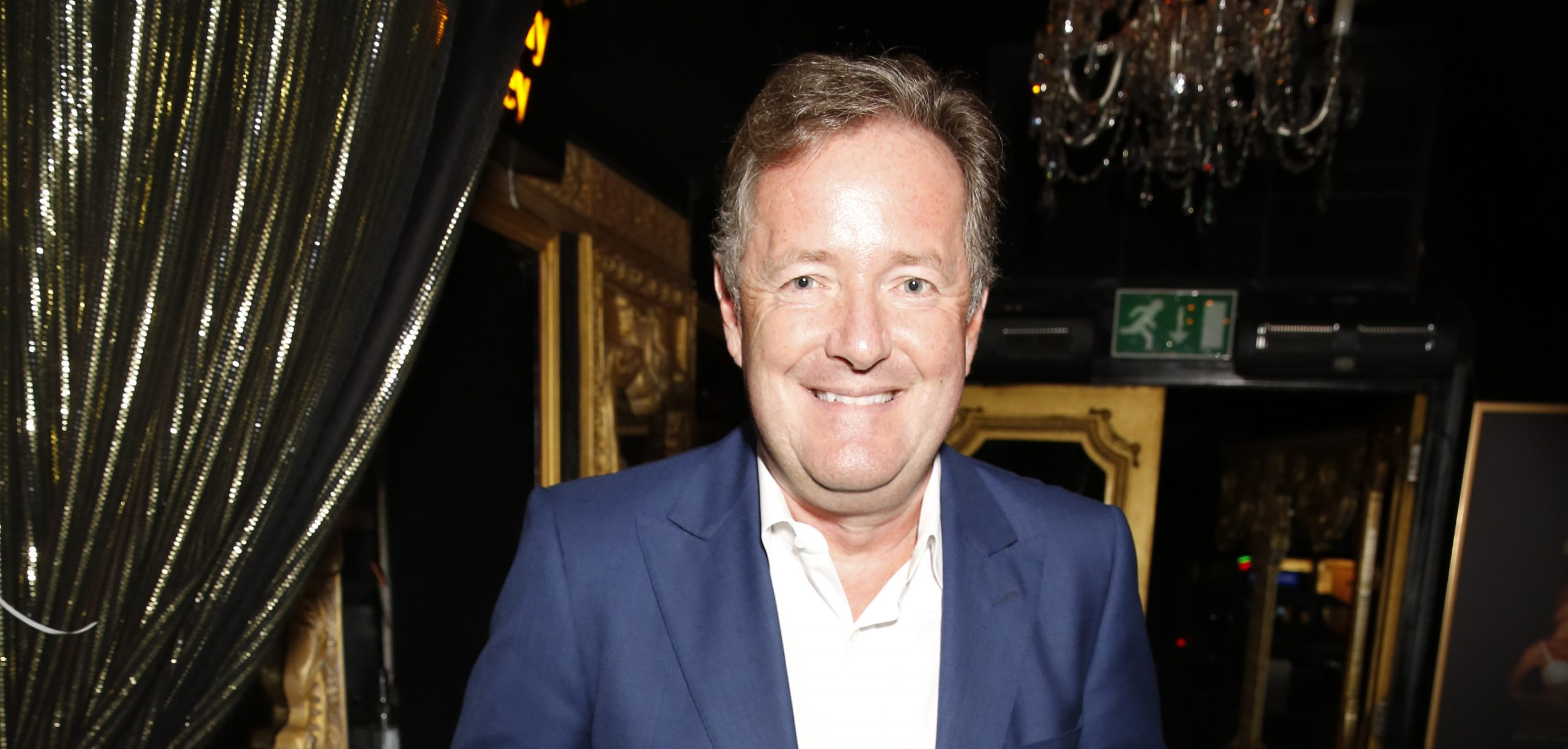 Piers Morgan gets mocked as he enjoys some daddy-daughter time at the football