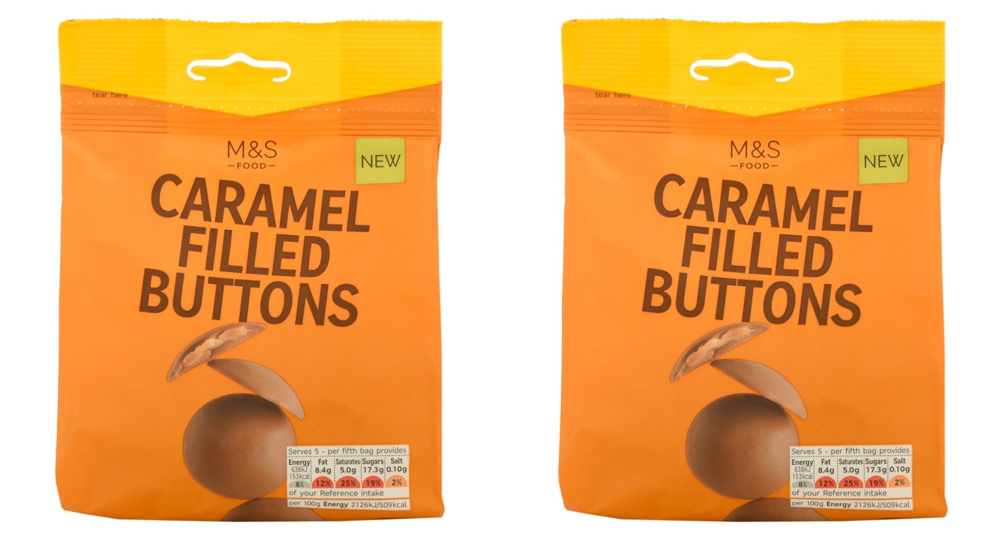 M&S launches 'moreish' new 'chunky' chocolate buttons filled with salted caramel