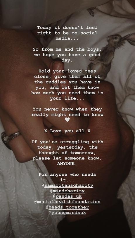 Stacey Solomon message to Caroline Flack