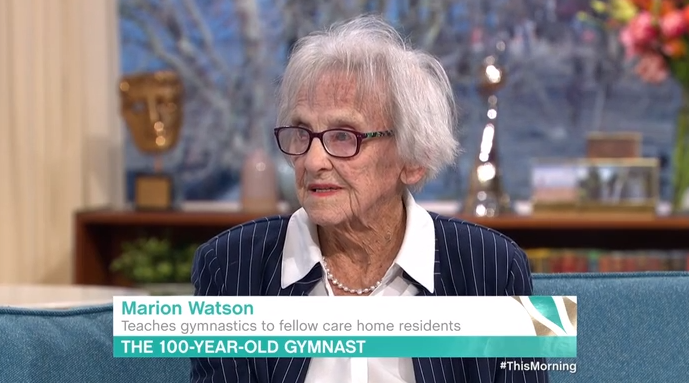 Marion Watson, 100, on This Morning