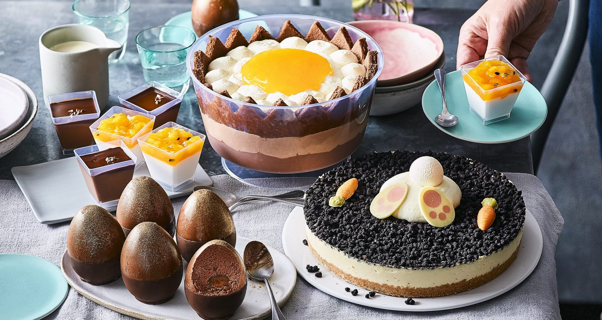M&S launches its Easter desserts – including a triple chocolate 'cracked egg' trifle