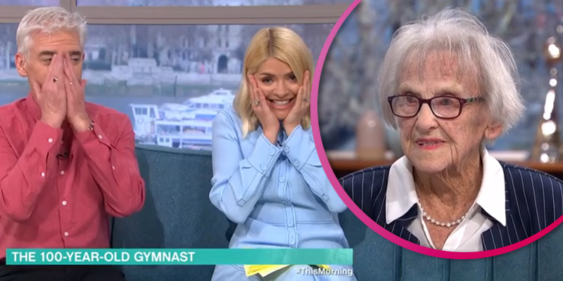 Phil and Holly gobsmacked as woman, 100, puts her legs behind her head on This Morning