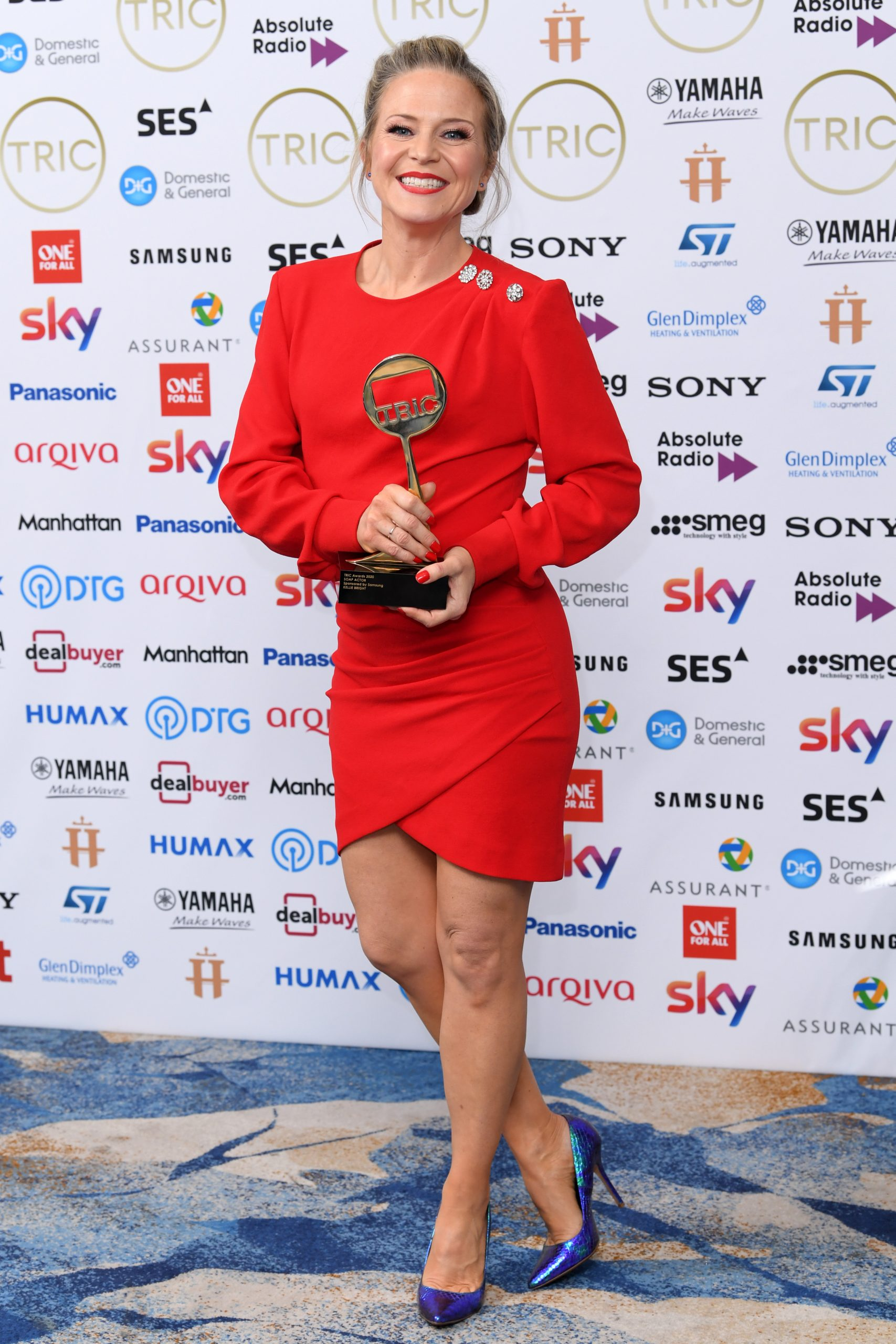 Mandatory Credit: Photo by David Fisher/Shutterstock (10578624l) Kellie Bright - Soap Actor The TRIC Awards, Press Room, Grosvenor House, London, UK - 10 Mar 2020