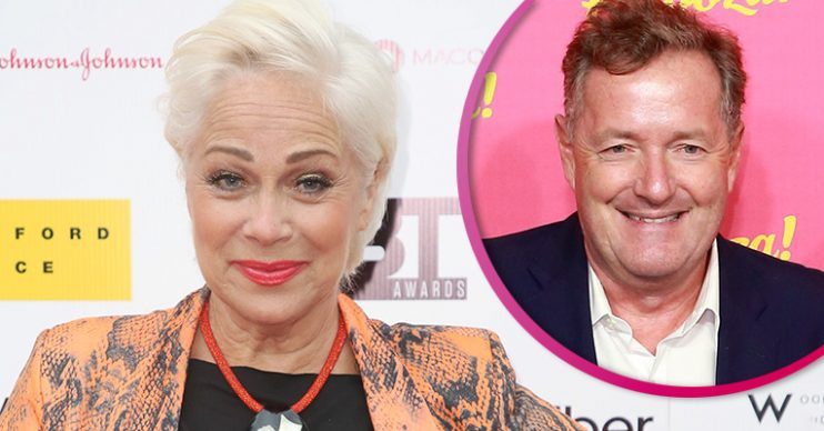 Denise Welch and Piers Morgan