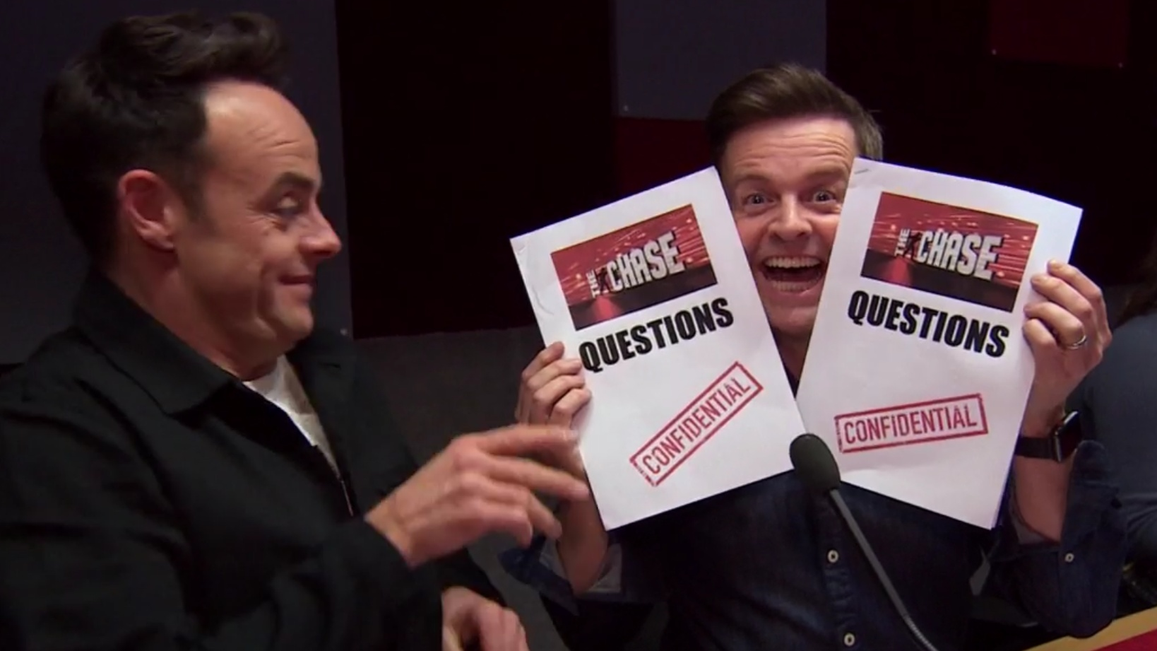 Ant and Dec get hold of The Chase questions
