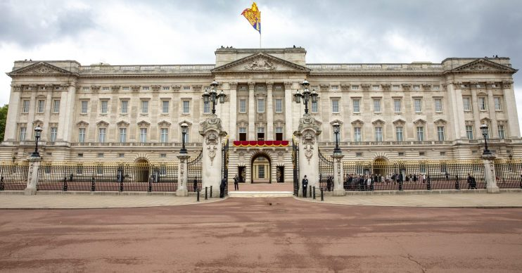 Buckingham Palace bombed
