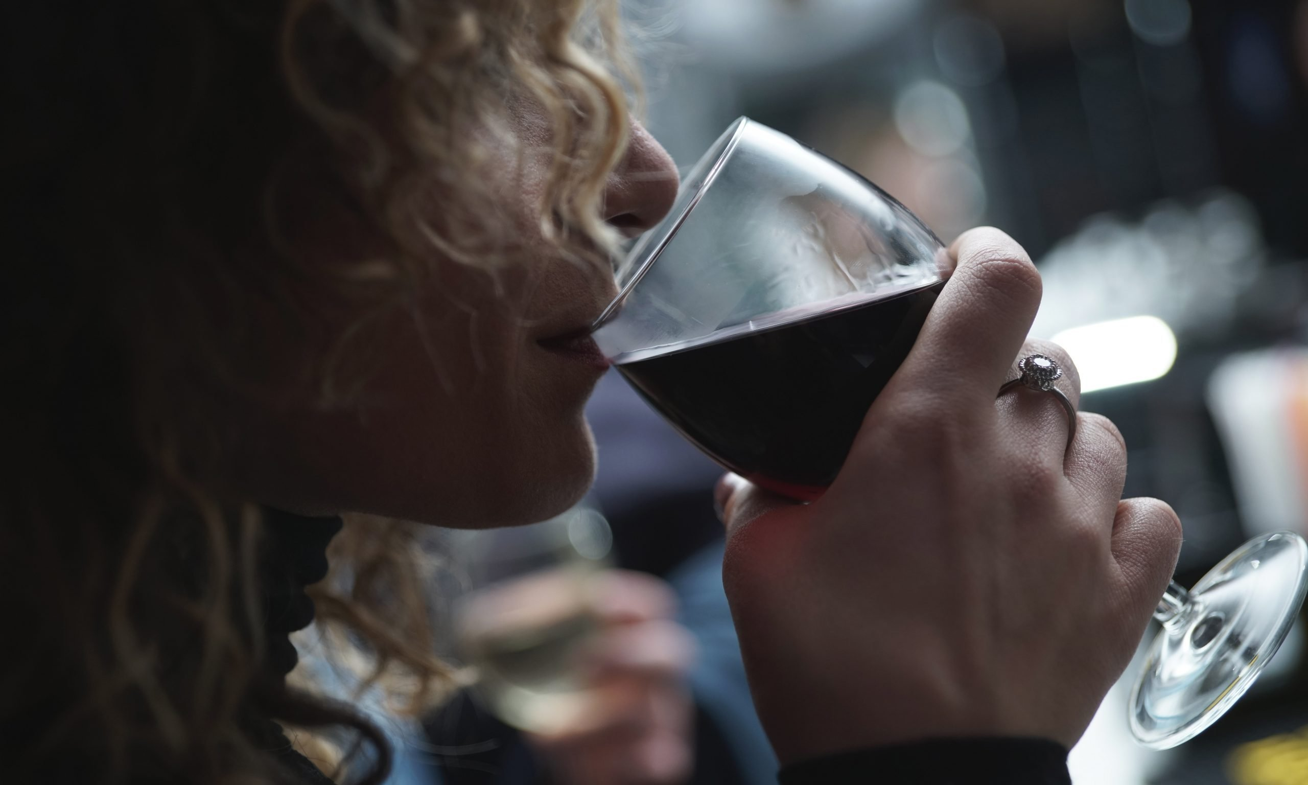 alcohol ban woman drinking wine
