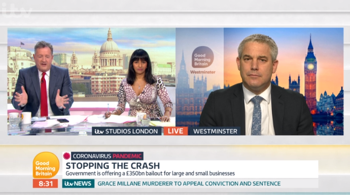 Piers Morgan and GMB guest