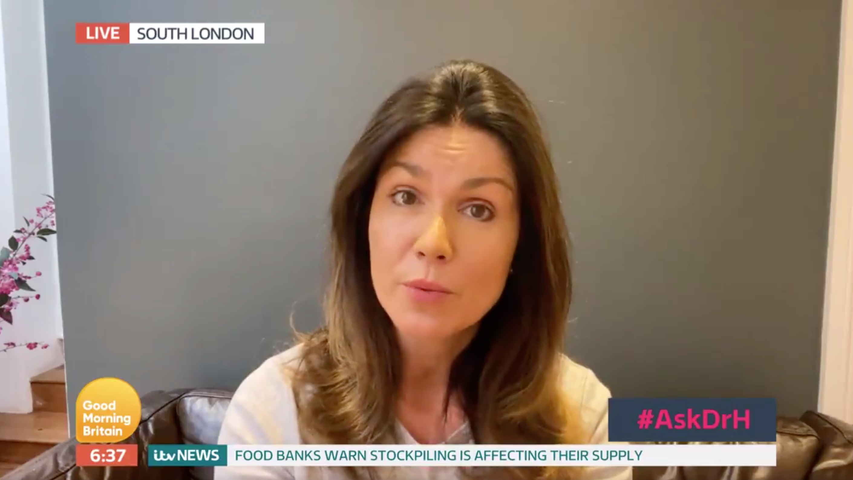 Good Morning Britain's Susanna Reid gave an update on her situation amid the coronavirus outbreak (Credit: ITV)