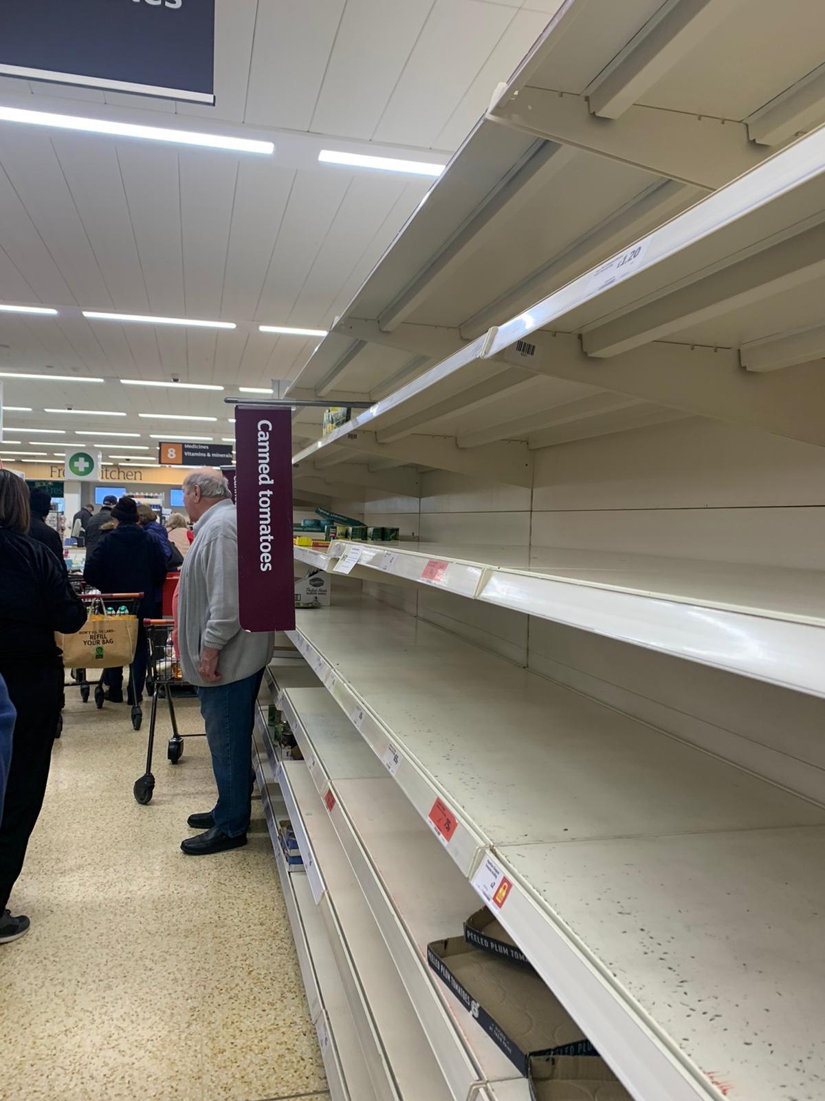 Sainsbury's Whitstable elderly hour
