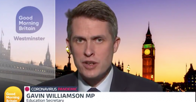 Gavin Williamson clear up confusion around exams on Good Morning Britain (Credit: ITV)