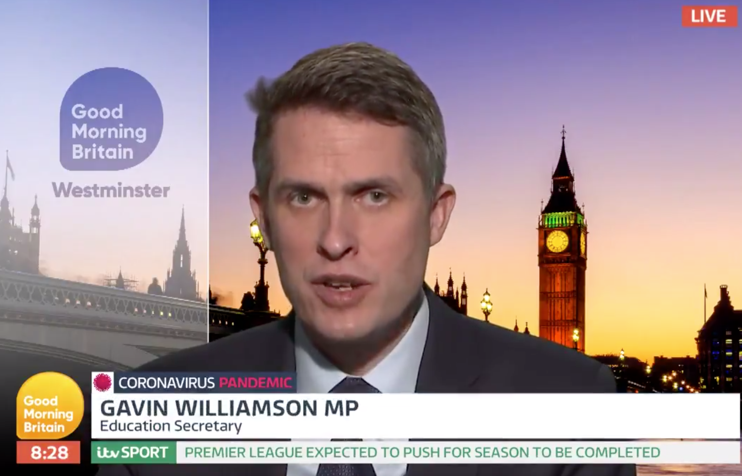 Gavin Williamson clears up exam confusion on Good Morning Britain as GCSEs and A levels are postponed