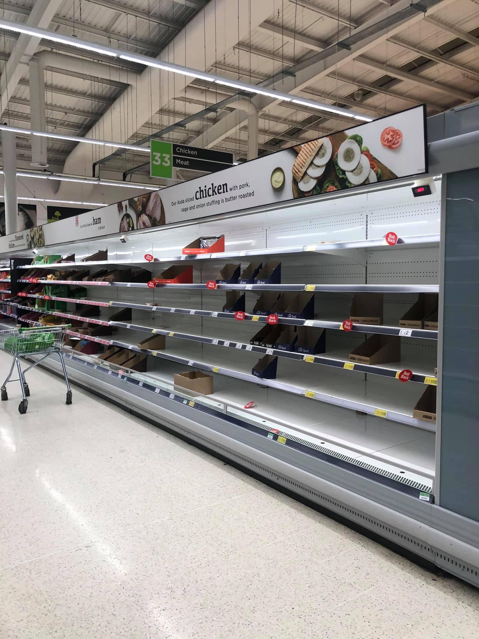 UK supermarket Asda coronavirus