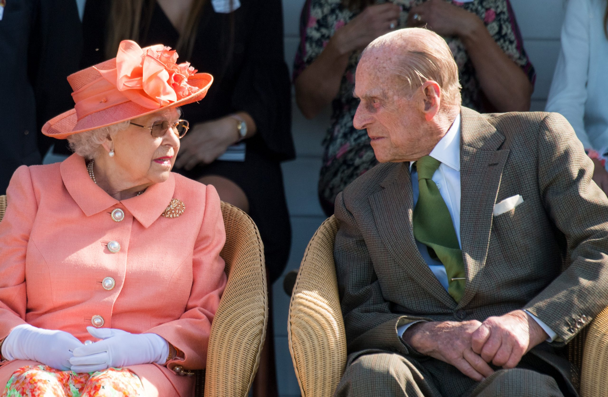 The Queen and Prince Philip, who was rumoured to have died this week