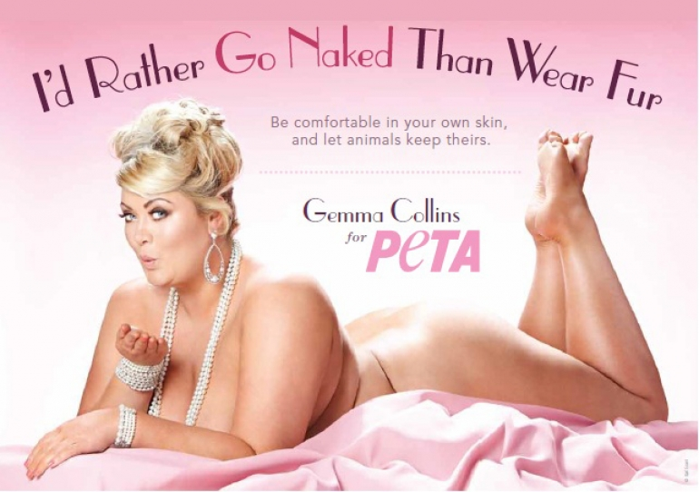 Gemma Collins PETA campaign