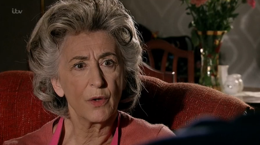 Coronation Street make-up artist wears face mask to work on Maureen Lipman amid coronavirus outbreak