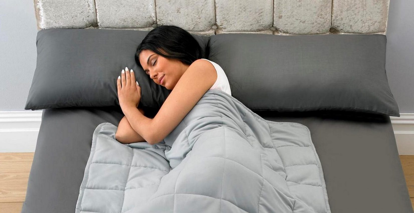 Coronavirus: Weighted blanket that helps to reduce anxiety and aid sleep on sale online