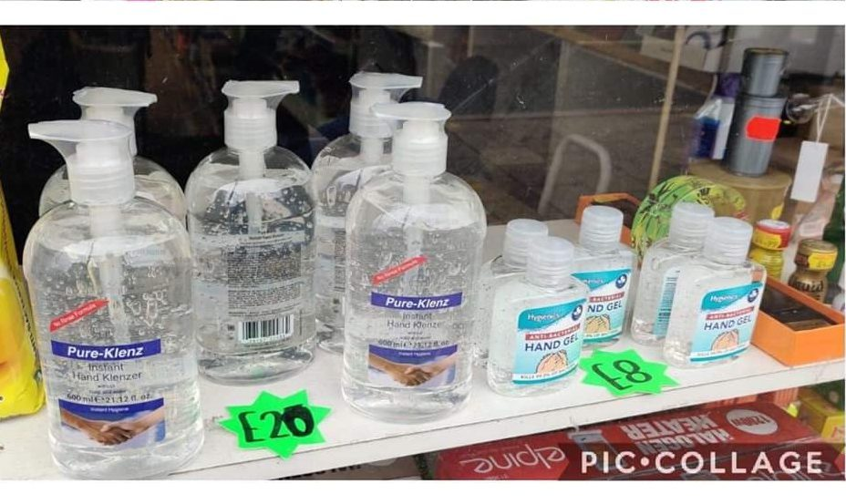 hand gel price inflated
