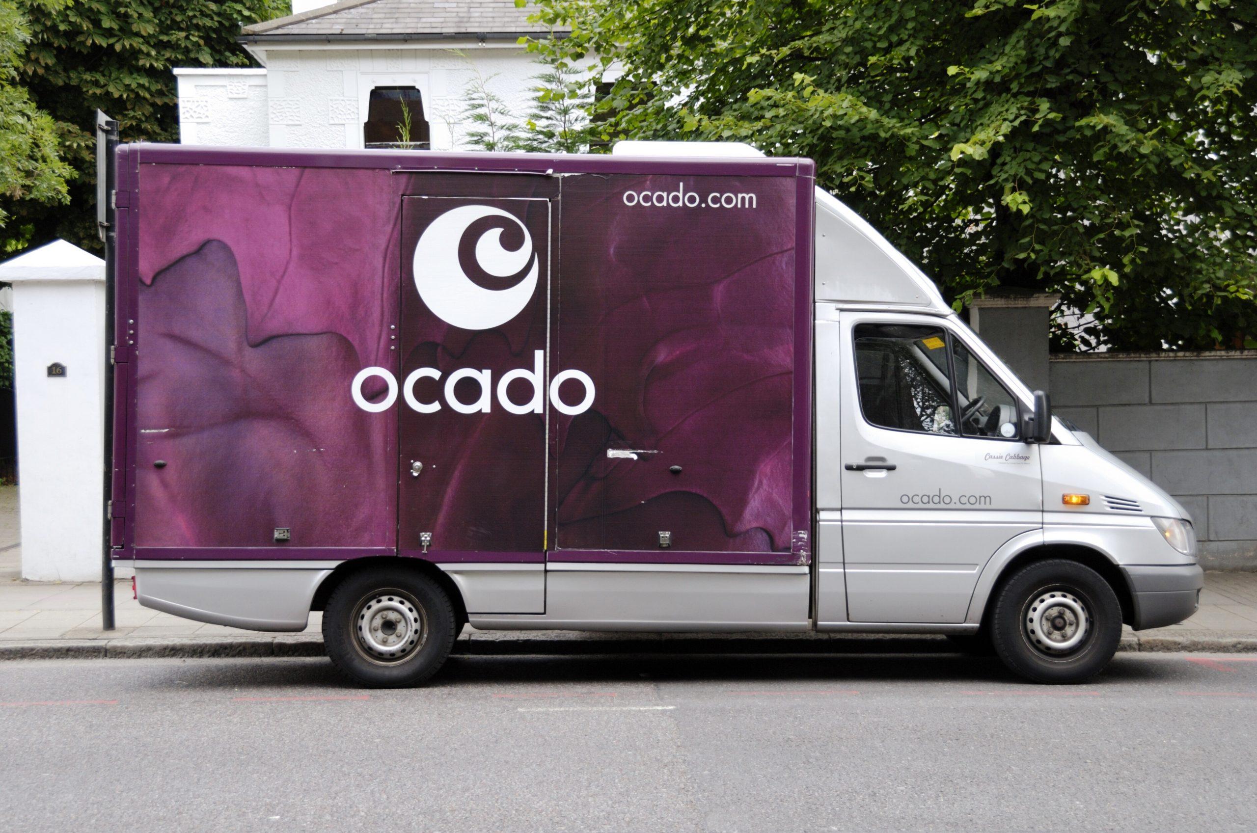An Ocado van. The company has suspended orders due to coronavirus