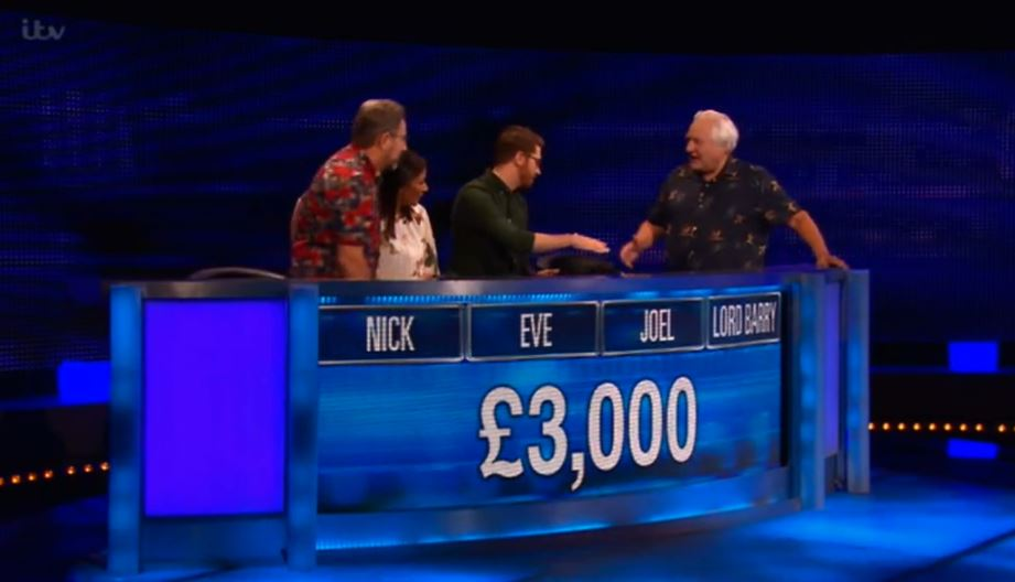 The Chase contestant Barry, who was mocked for being a lord