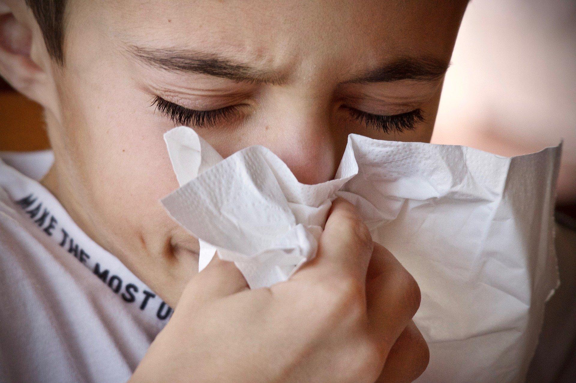 Coughing due to coronavirus