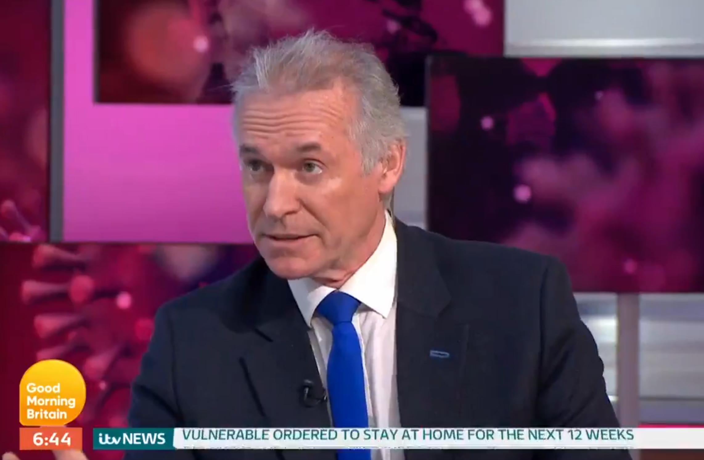 Dr Hilary Jones moved to tears by coronavirus nurse who went viral after breaking down over greedy panic buying