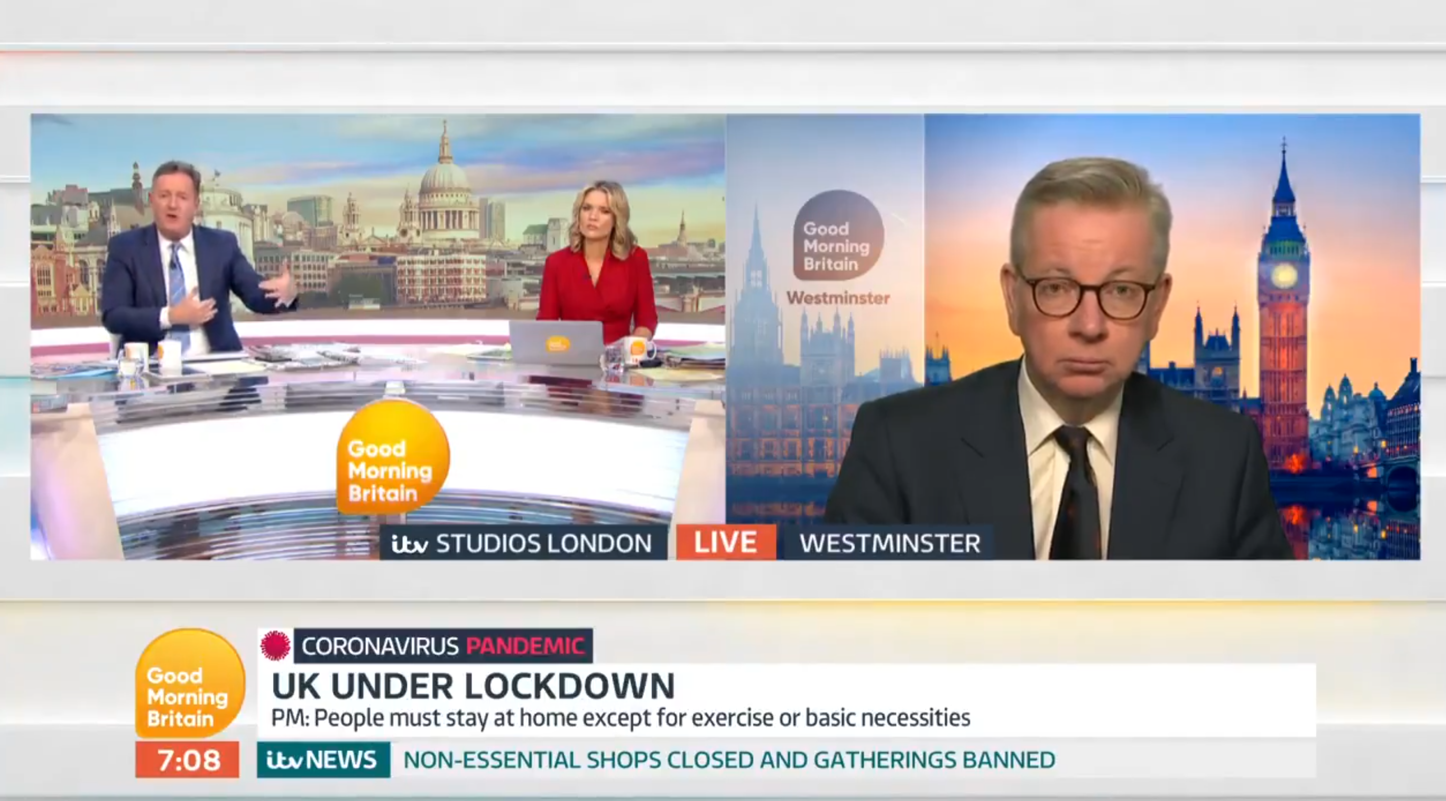 Michael Gove tells Sports Direct boss to 'back off' in live Good Morning Britain interview