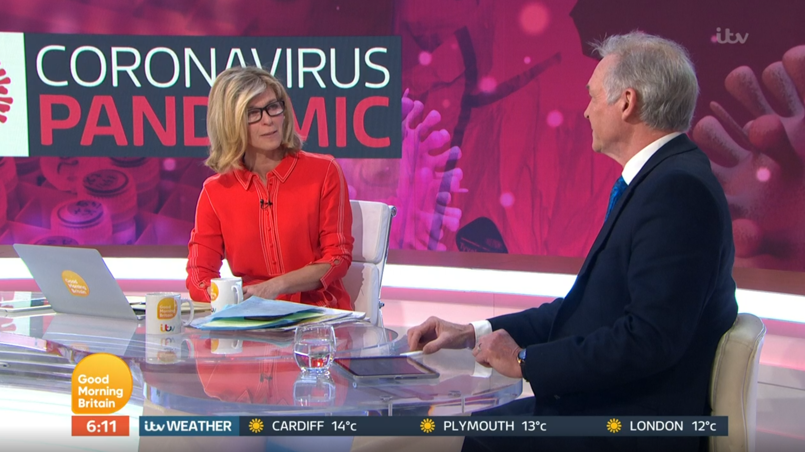 Kate Garraway Dr Hilary Good Morning Britain. (Credit: ITV)