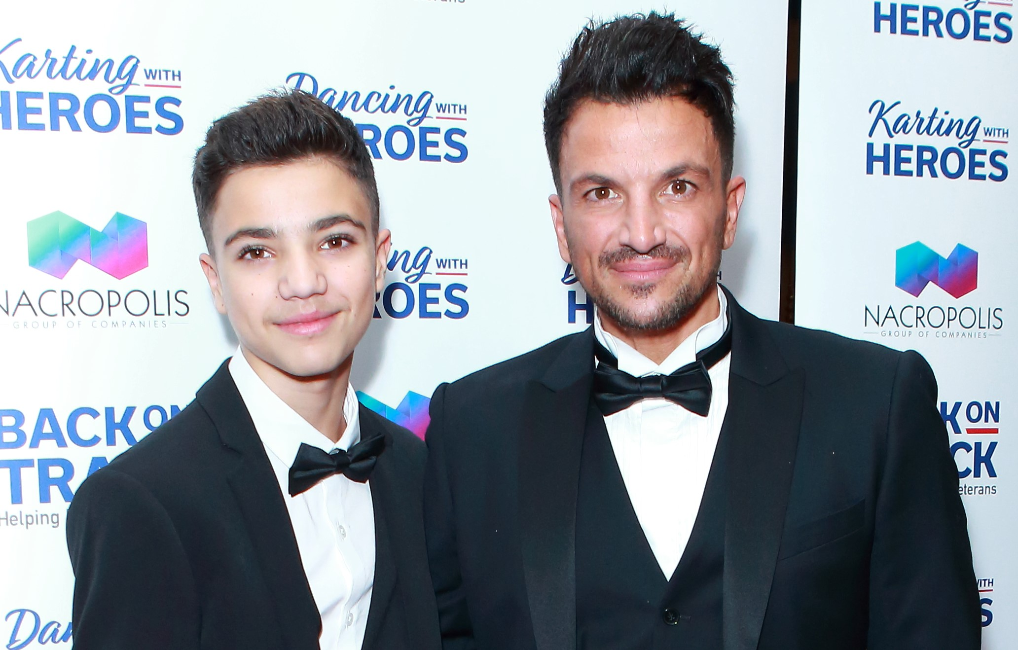 Peter Andre's son Junior 'showing signs of coronavirus'
