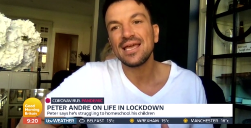 Peter Andre GMB Credit: ITV