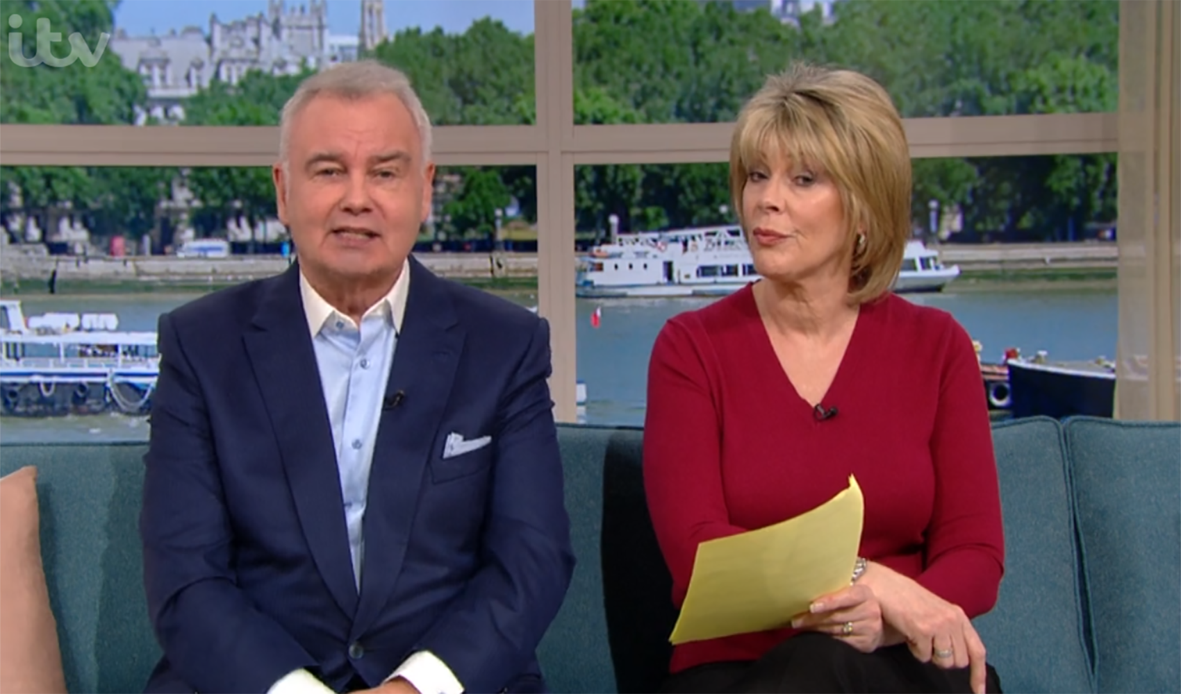 Eamonn Holmes says Piers Morgan 'scared' anxious Ruth Langsford with coronavirus remarks