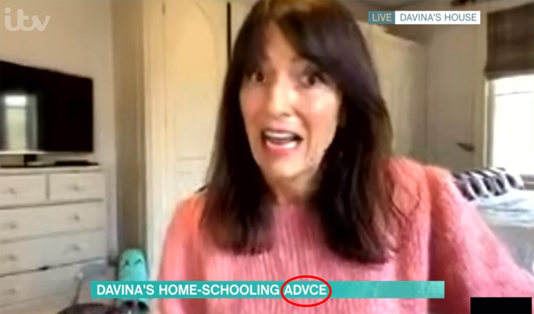 Davina McCall on This Morning