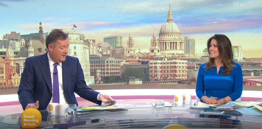 Piers Morgan and Susanna Reid GMB