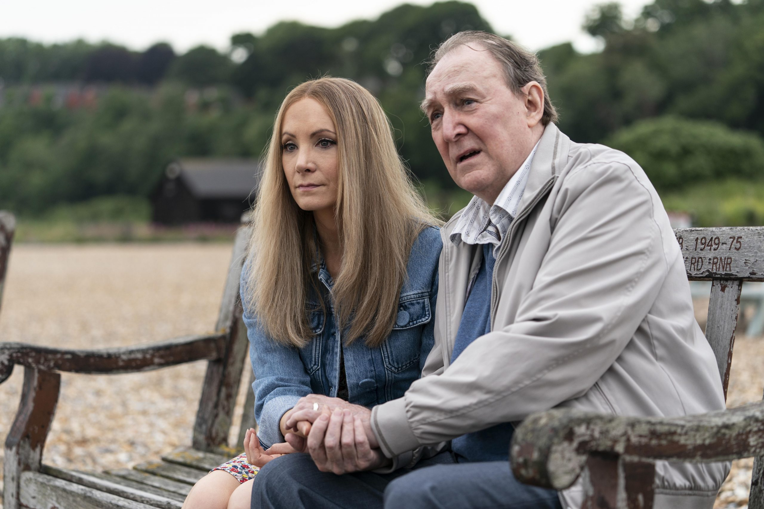 Joanne Froggatt and Dermot Crowley in Liar