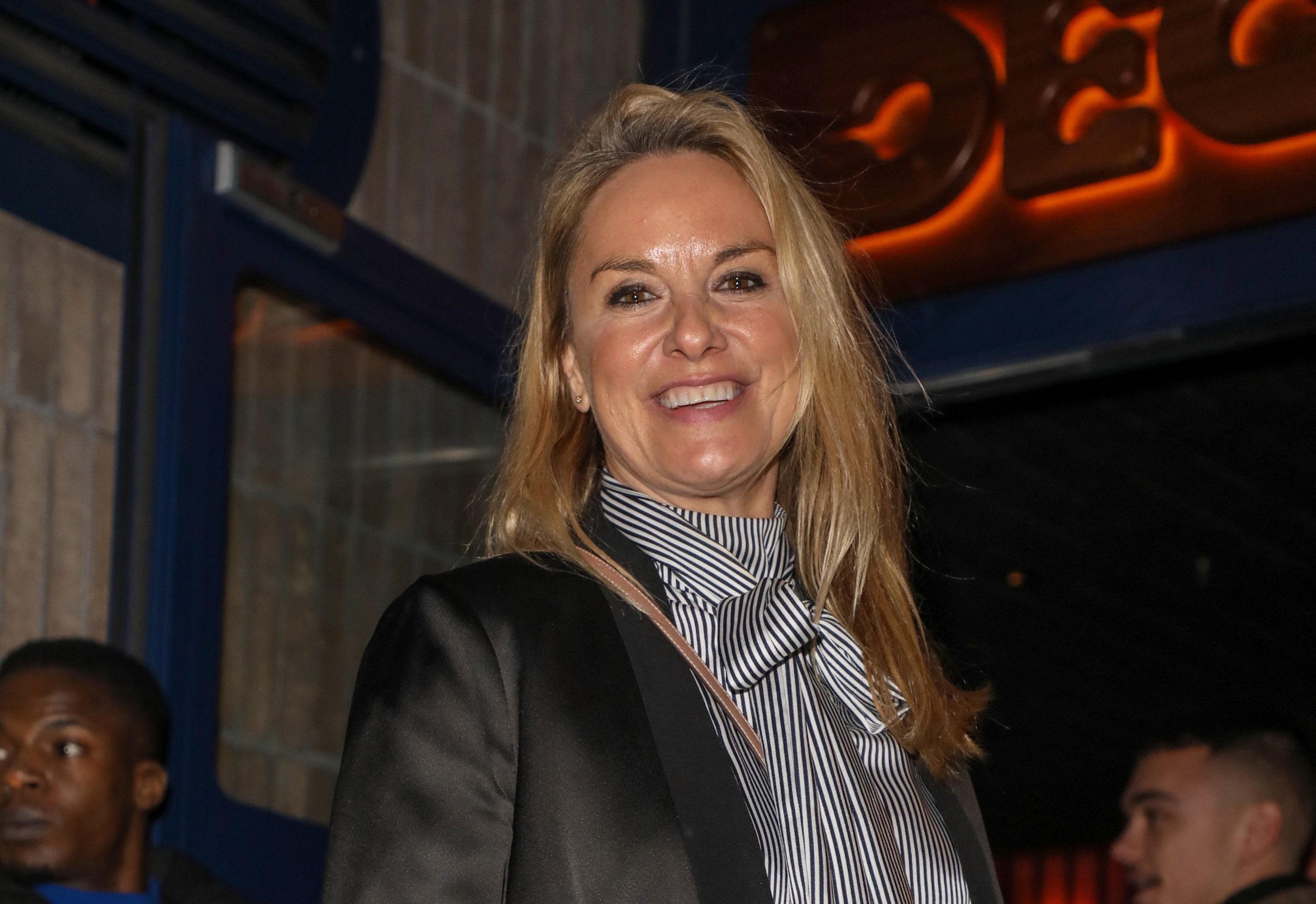 Former EastEnders star Tamzin Outhwaite reveals seven-year-old daughter has dyed her hair pink