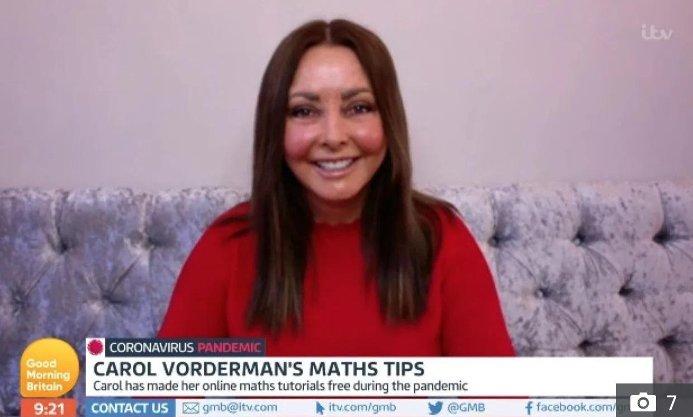 Carol Vorderman on Good Morning Britain