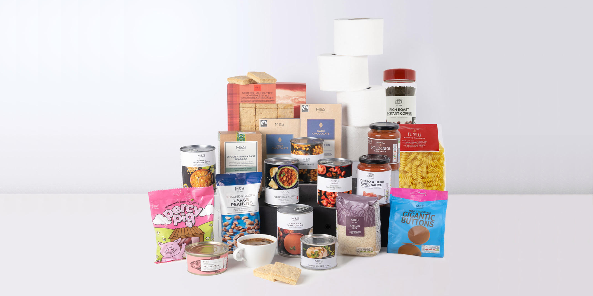 Coronavirus: M&S launches £30 food boxes with essentials like loo roll, pasta – and Percy Pigs!