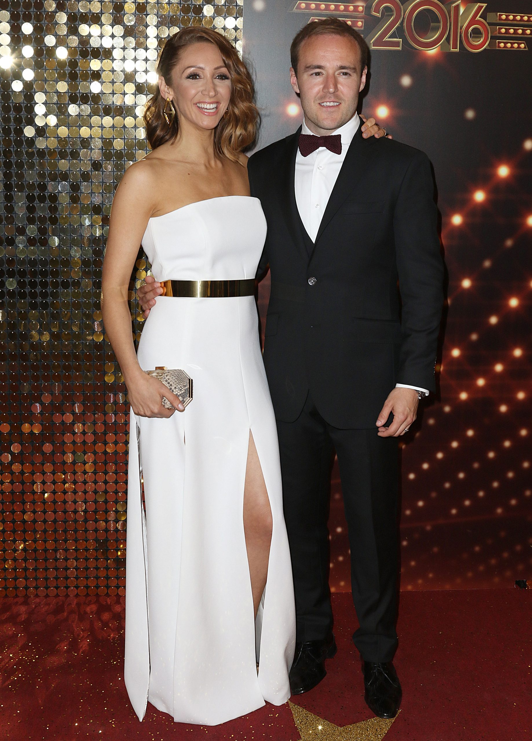 Coronation Street's Alan Halsall pays tribute to Tisha Merry as they celebrate a year together