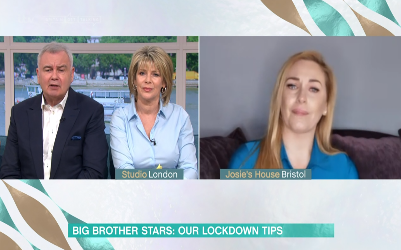 Josie Gibson breaks down on This Morning as she struggles in self-isolation with son