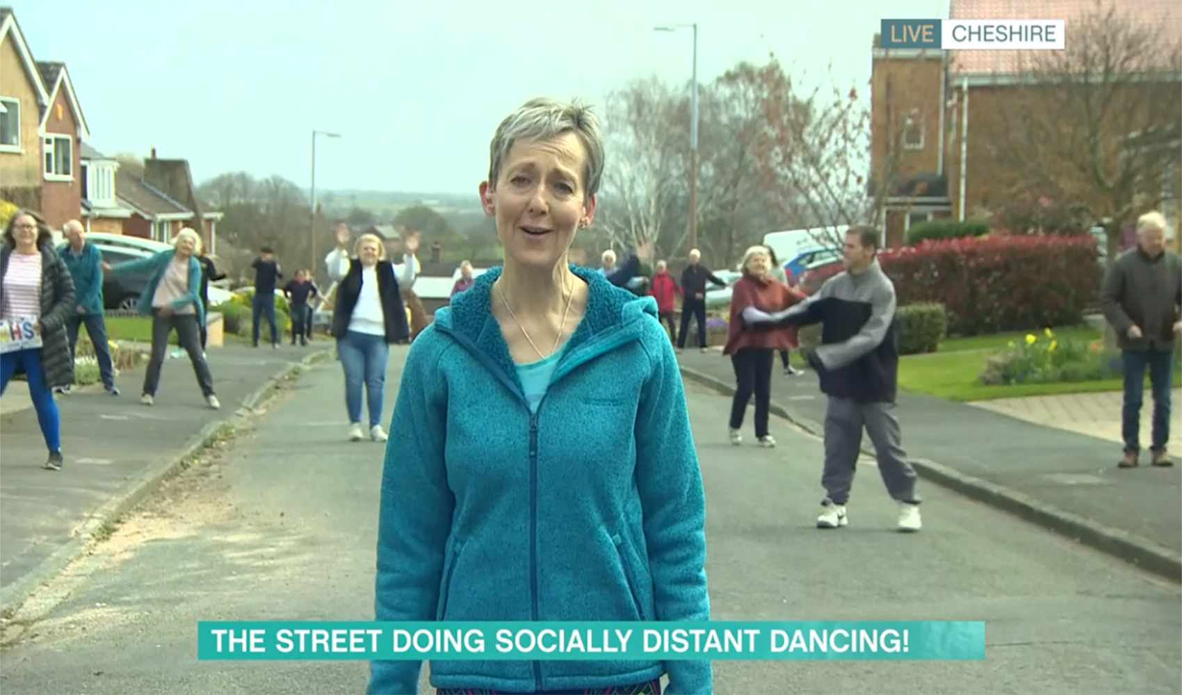 This Morning fans accuse street residents of not social distancing as they dance amid lockdown