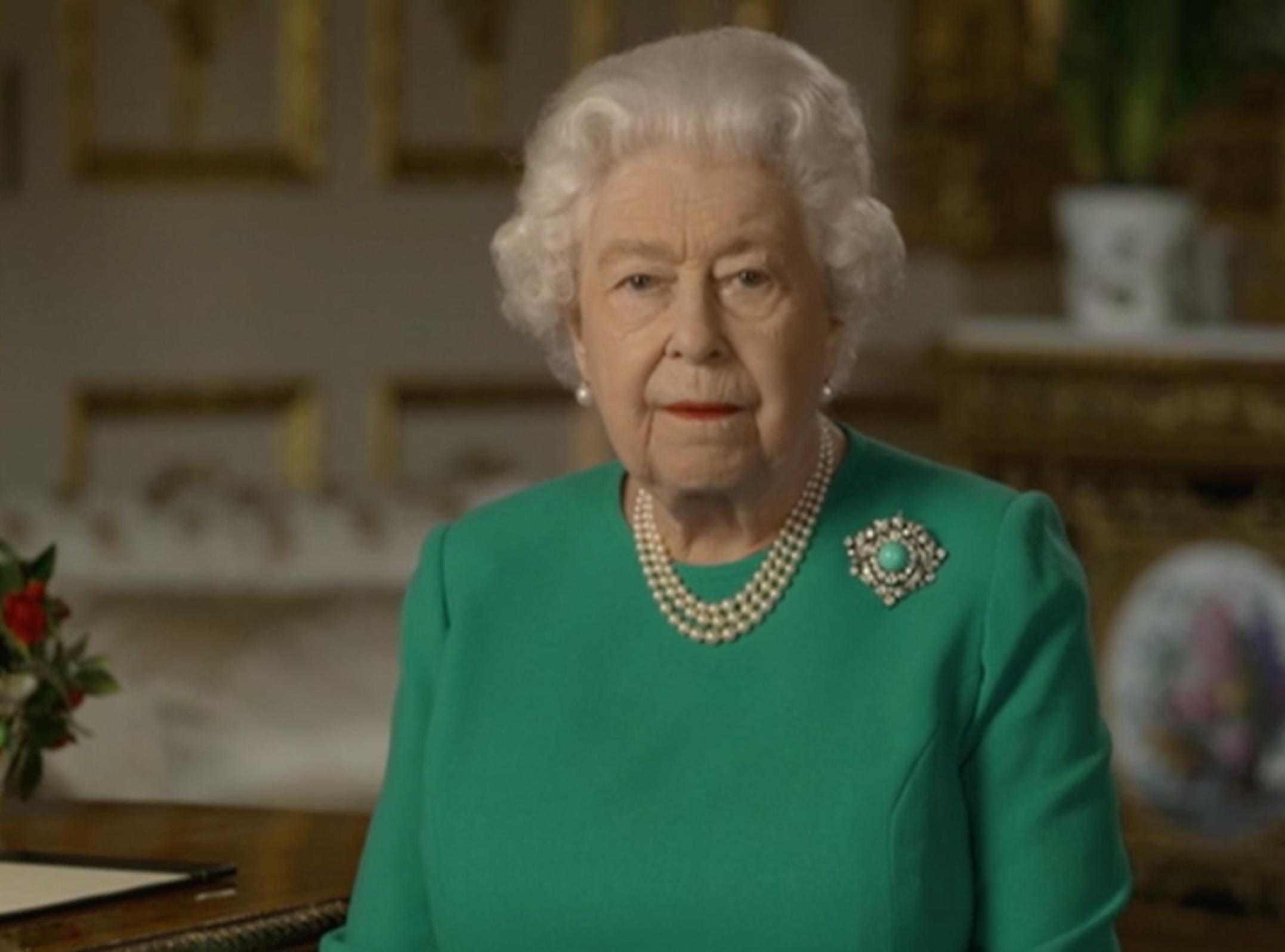The Queen addressed the coronavirus pandemic on TV (Credit: BBC)