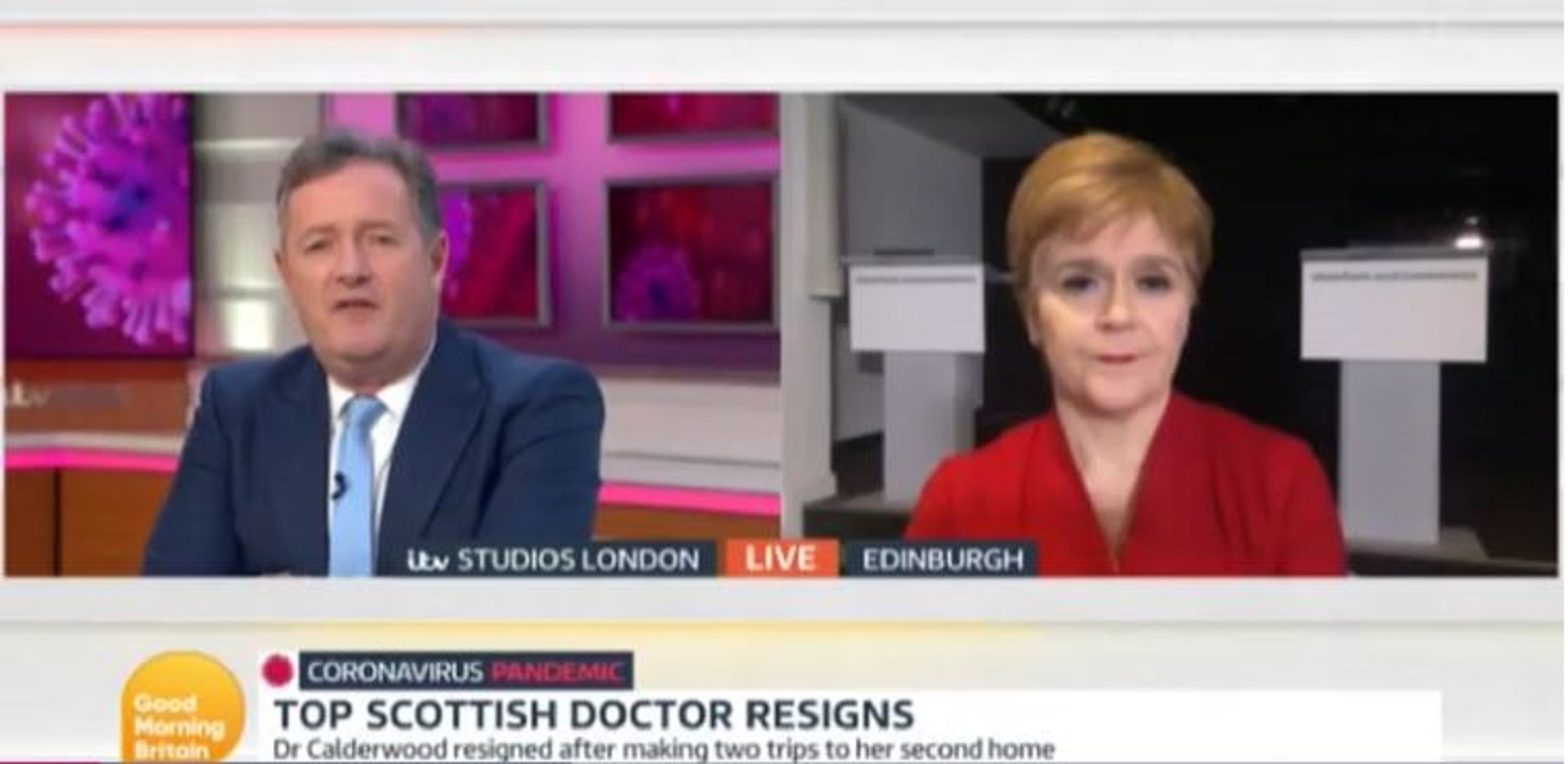 Nicola Sturgeon explains Scotland's Chief Medical Office coronavirus scandal live on Good Morning Britain
